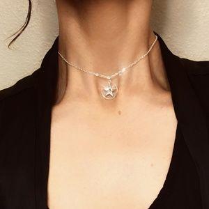 Jewelry - Silver Star Moon Pendant Choker